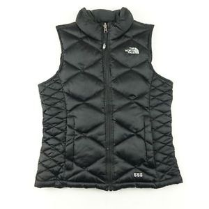 North Face 550 Girls Black Down Puffer Vest